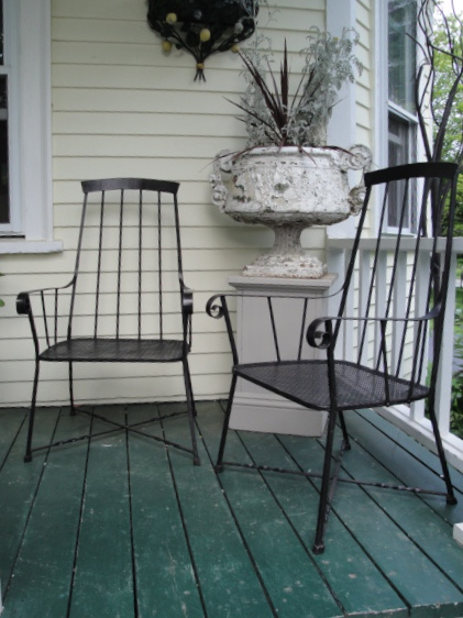 High Quality Pair Of Iron Windsor Chairs