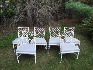 Vintage Faux Bamboo Dining Chairs