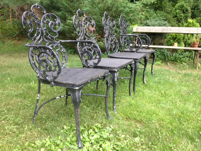 VINTAGE ALUMINUM GARDEN FURNITURE Plain Elegant Antiques